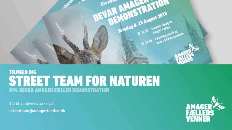 Vær med til uddeling af flyers for den store demonstration for natur i København
