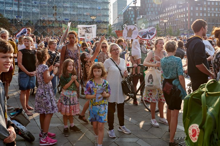 Højdepunkter fra demonstrationen på Rådhuspladsen den 23. august – video