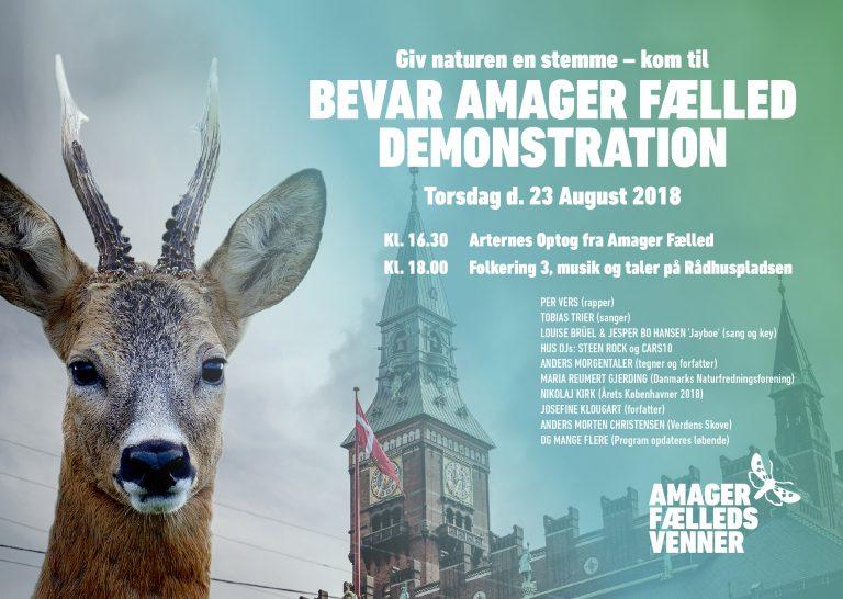 Arternes optog og Amager Fælled demonstration den 23. august